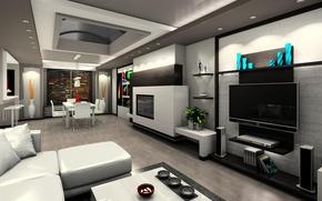 Картинка design, modern, interior, home, luxury, apartment