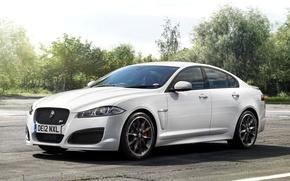 Картинка Jaguar, Белый, Машина, Ягуар, Desktop, Car, Автомобиль, White, Wallpapers, Красивая, Обоя, Передок, UK-Spec, Speed Pack, …