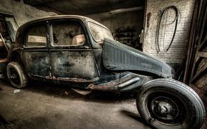 Картинка машина, гараж, лом