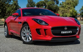 Обои Jaguar, ягуар, Coupe, F-Type, AU-spec, 2014