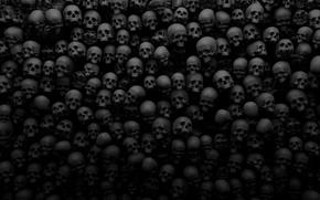 Обои темнота, мрак, черепа