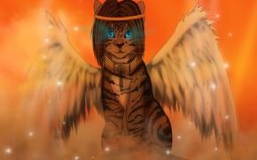 Картинка крылья, арт, сказочное животное