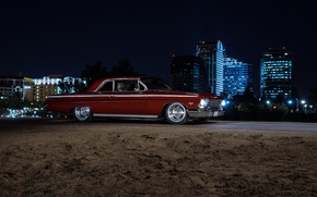 Картинка Chevrolet, Muscle, Car, Front, Night, Impala, American, 1962