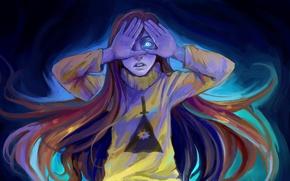 Картинка девушка, арт, Gravity Falls, Mabel Pines, Zapekanka