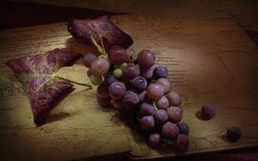 Картинка ягоды, текстура, виноград, гроздь, книга, винтаж