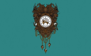 Обои время, фон, дерево, Часы, Jared Nickerson