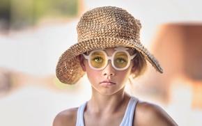 Картинка очки, девочка, шляпка, Charleston, Julia Altork