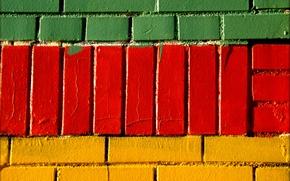 Картинка стена, краска, кирпич, кладка