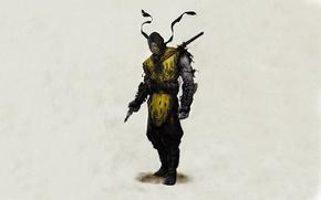 Обои scorpion, mortal, kombat