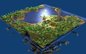 Обои game, water, minecraft, 16bit, pixels