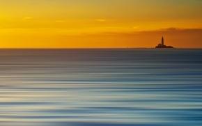 Картинка море, стиль, фон, маяк