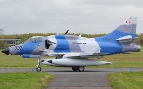 Картинка штурмовик, Douglas, Skyhawk, «Скайхок», Discovery Air, A-4N