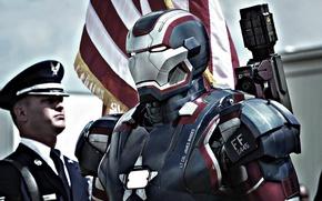 Картинка флаг, костюм, железный патриот, iron man 3