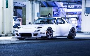 Картинка Mazda, White, RX-7, 4Rotor