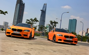 Картинка BMW, Orange, Matte, Tuning, F10