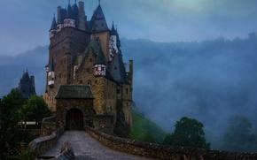 Обои Замок Эльц, Германия, небо, тучи, замок