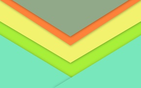 Картинка линии, желтый, голубой, wallpaper, геометрия, material, desing, салотовый