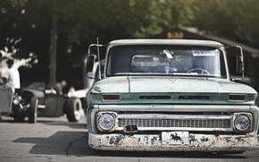 Обои chevrolet, pickup, hot, rod, шевроле, пикап, хот