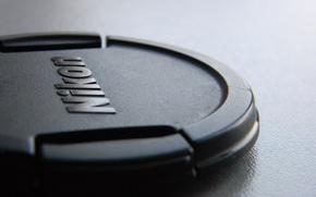 Картинка стол, Nikon, крышка объектива