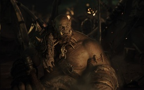 Картинка фильм, кадр, полумрак, Warcraft, Варкрафт, орк