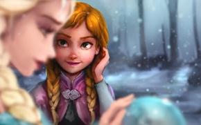 Картинка Frozen, Disney, Anna, Elsa, Холодное сердце