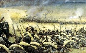 Обои война, штурм, под плевной, верещагин