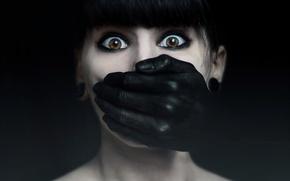Картинка взгляд, девушка, страх