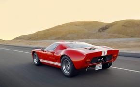 Обои форд, дорога, GT-40, Ford
