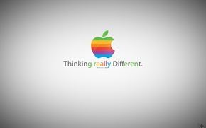 Обои apple, greener apple, thinking really different