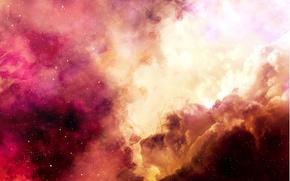 Картинка космос, звезды, туманность, арт