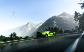 Картинка Green, Mountain, Hennessey, Supercar, Venom, Rear