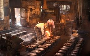 Картинка fire, casting, foundry