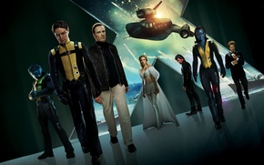 Обои x-men first class, мутанты, люди икс, фильм