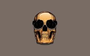Картинка цвет, череп, skull, золотой