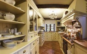 Картинка interior, kitchen, design. house, Provans style
