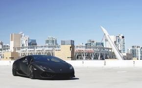Картинка car, Lamborghini, supercar, black, auto, tuning, lambo, nice, Huracan, GMG