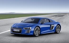 Картинка синий, Audi, ауди, e-tron, 2015