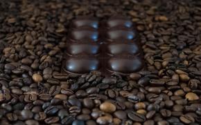 Картинка кофе, шоколад, зёрна