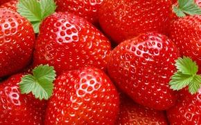 Обои ягоды, еда, клубника