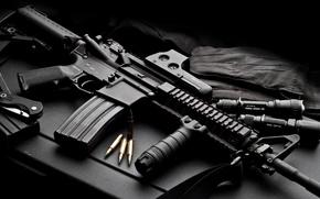 Обои оружие, патроны, автомат