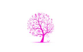 Картинка листья, цветы, птицы, дерево, весна