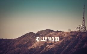 Картинка Калифорния, сша, Лос-Анджелес, Los Angeles, California, united states, Знак Голливуда, Hollywood sign, Гриффин Парк, Griffin …