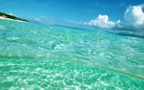 Картинка вода, прозрачность, океан, лагуна
