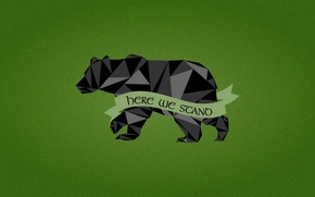 Картинка Game of Thrones, black bear, House Mormont, Here We Stand, A Song Fire and Ice, …