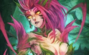 Картинка девушка, art, League of Legends, Zyra, Rise o