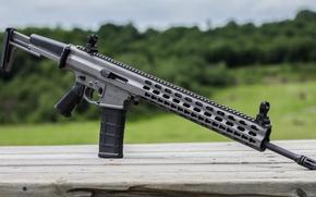 Обои автоматическая, винтовка, фон, штурмовая, Arms XCR, оружие