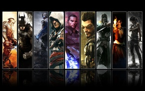 Картинка Tomb Raider, Batman, Deus Ex, Assassin's Creed, Dragon age, Kingdoms of Amalur, Mass effect, Dishonored, …