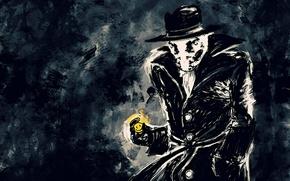 Обои Уолтер Ковач, смайлик, Роршах, Хранители, Watchmen, Rorschach