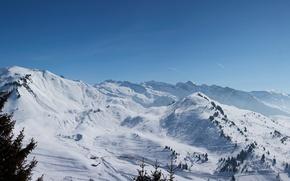 Картинка зима, небо, снежные горы
