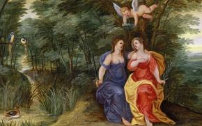 Обои Аллегория Мира и Порядка, картина, Ян Брейгель младший